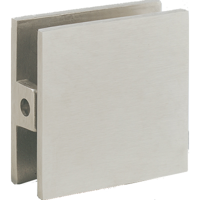 Square Wall Mount Glass Clip